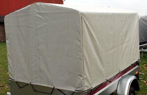 Spitzdach Plane Haube Hochplane 116x202 Kasten Anhängerplane 80cm f PKW-Anhänger