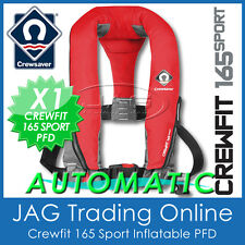 AUTOMATIC FIERY RED CREWSAVER CREWFIT 165 SPORT PFD- AUTO INFLATABLE LIFE JACKET