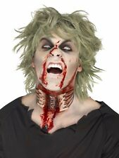 Throat Wound Halloween Fake Prosthetic Latex Scar Fancy Dress Zombie Make Up