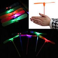 2Pcs LED Flying Dragonfly Helicopter Boomerang Frisbee flash Child Toy Gift BUA4