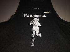 "Vintage Mens 1970's HIND BIG HAIRIERS ""BH"" Black Running Jersey Singlet XL"