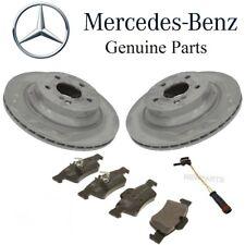 Mercedes W211 W219 CLS Rear Brake Pad Set & 2 Vented Disc Rotors 1 Sensor Kit