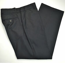 Mint BANANA REPUBLIC Wool Flat Front Black Pinstripe Dress Pants Sz 30 x 30