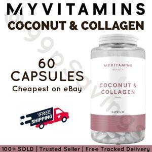 Myvitamins Coconut And Collagen Capsules - 60 Capsules - Anti Ageing Supplement
