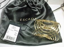 Authentic Escada Gold Statement Cuff Bracelet 5006235 New NWT Tags + Pouch