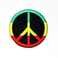Peace Sign Bob Marley OM Jamaican Singer Symbol DIY Clothes Jacket Iron on patch