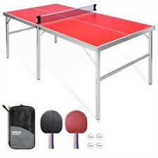 GoSports 6'x3' Mid-size Ping Pong Table Game Set | Indoor/Outdoor Foldable Table