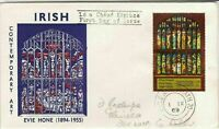eire ireland 1969 irish contemporary art windows stamps cover ref 20324