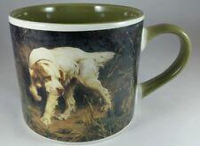 AMERICAN KENNEL CLUB - BIRD HUNTING DOG, LARGE COFFE MUG, EXCELLENT COND. GREEN.