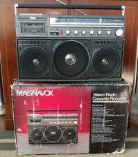 Nice! vintage Boombox Magnavox D8443 ghettoblaster w/ box,radio cassette player