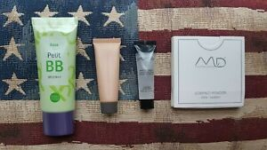 Holika Holika BB Cream, BECCA Skin Protector, Smashbox Primer, MD Compact Powder