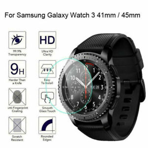 For Samsung Galaxy Watch 3 41mm 45mm HD-Clear Tempered Glass Screen Protector