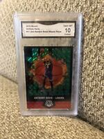 Anthony Davis 2019 Mosaic Jam Masters Green Graded 10 Los Angeles Lakers