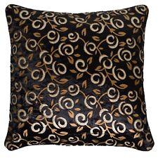 10 Black Velvet Shiny Cushion Covers 16x16 40cm Wholesale Clearance Bulk Sale