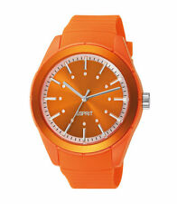 Runde Esprit Armbanduhren aus Silikon/Gummi