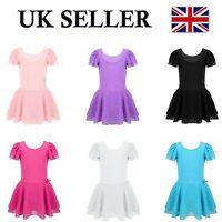 UK Girls Tutu Ballet Dance Dress Leotard Children Party Performance Costume