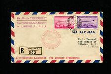 Zeppelin Sieger 408A/B LZ129 1936 1st North America Flight  Liechtenstein Post