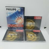 DVD+R 4.7GB 120min. 4 Recordable Dvd's. Sealed Philips Imation Bundle
