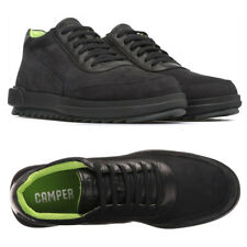 CAMPER Men's Marges Casual Shoes SNEAKERS EU 44 - US 11 Black Nubuck Leather NEW