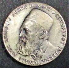 J. Henry Dunant eeuwfeest internationale Rode Kruis 1963 Zilver 53,3 gram 50 mm