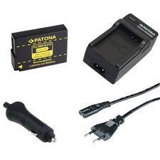Batteria Patona + caricabatteria casa/auto per Panasonic Lumix DMC-G3,DMC-GF2