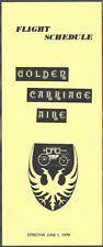 Golden Carriage Aire system timetable 6/1/79 [8051] Buy 2 Get 1 Free