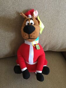 "12"" Scooby-Doo Plush Toy Santa, Stuffed Animal,  Toy Factory, Christmas - NWT"