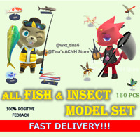All 🐟 Fish Shark / 🦋 Insect Bug Model Set of 160 Pcs Outdoor Mesuem FASTEST!!!