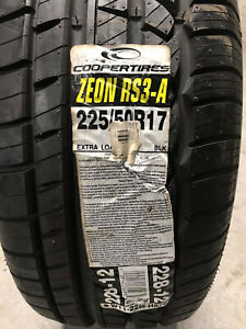 1 New 225 50 17 Cooper Zeon RS3-A Tire