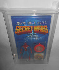 MARVEL SECRET WARS SERIES 1 SPIDER-MAN FIGURE MOC AFA 80 MATTEL 1984