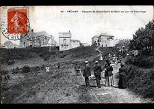 FECAMP (76) PELERINAGE à la CHAPELLE NOTRE-DAME-du-SALUT , VILLAS animés en 1911