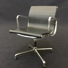 Miniature Office Chair-BLACK. 1/12 scale Miniature Mid-Century Designer Chair
