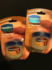 X2 Vaseline Lip Therapy Cocoa Butter, .25 oz Sealed.