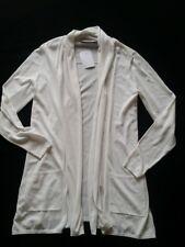 HALLHUBER mujer chaqueta de punto blanco hueso algodón / SEDA Talla , 38 UK10