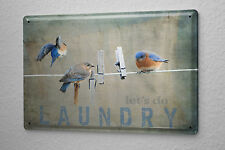 Tin Sign Retro Laundry