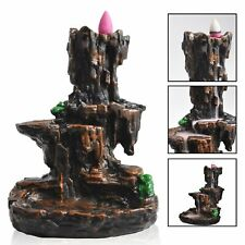 Retro Mountain Waterfall Smoke Backflow Incense Burner Holder Home Decorate