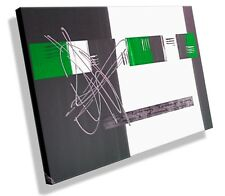 MK1 Art Imagen Lienzo Abstracto Cuadro Arte Pintura moderno Imágenes gris verde