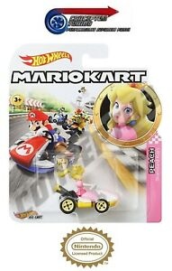 Mario Kart Hot Wheels Toy Cars - Peach Standard Kart - FREE 1st Post - *V.RARE*