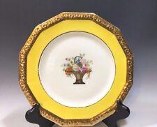 Rosenthal Selb Bavaria Maria Pattern #2206 Salad Plate Yellow/Gilt/Multi color