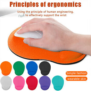 Anti-Slip Mouse Pad Mat with Foam Gel Wrist Rest Support For PC Macbook Laptop