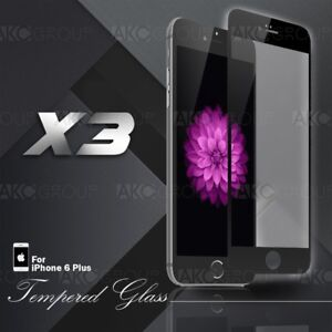 """3x Black Full Cover Tempered Glass Screen Protector For IPhone 6S 6 Plus 5.5"""""""