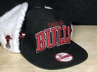 Chicago Bulls New Era Snapback Hat W/ Ear Flaps 9Fifty Cap WITH TAGS