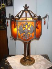 ARTS CRAFTS HORN BRANNEN BRONZE MICA PHILADELPHIA LAMP ROYCROFT STICKLEY HANDEL