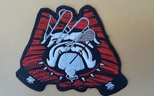 "UGA Georgia Bulldogs Vintage Embroidered Iron On Patch (RARE) 3.5"" x 4""  AWESOME"