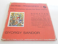PROKOFIEV NM Gyorgy Sandor Vol. 1 Complete Music for Solo Piano 3 LP set Vox