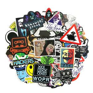 50 Pcs/Pack Hacker Kali Mr Robot Laptop Sticker Bomb Gaming Computer Linux Users