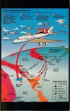 Postcard Diagram of Korean Air Liner 007 Shot Down by Soviet Su-15 Fighter Jet