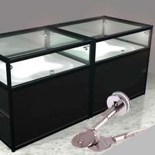 US Shop Cabinet Display Case Showcase Sliding Glass Door Zinc Alloy Lock 2 Keys