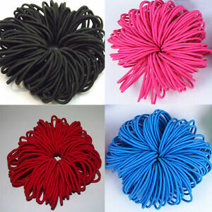 50/100pcs Women's Elastic Hair Ties Band Ropes Ring Ponytail Holder Accessories
