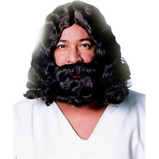 Jesus Religious Biblical Easter Brown Costume Wig Beard Set